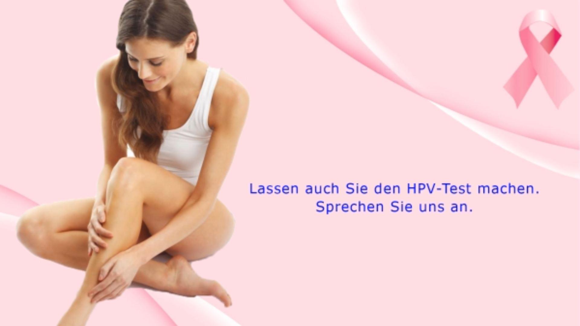 HPV-Test-Wartezimmer-TV-Digital-Signage-Praxis-Leistung